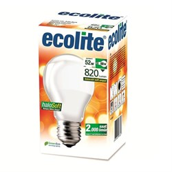 AMPUL HALOJEN NORMAL ECOLITE 52W E27 SOFT