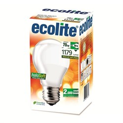 AMPUL HALOJEN NORMAL ECOLITE 70W E27 SOFT